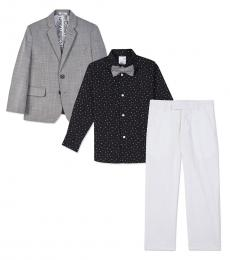 Calvin Klein 4 Piece Blazer/Shirt/Pants/Bow Set (Little Boys)