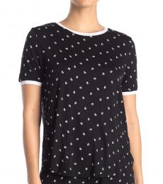 DKNY Black Crew Neck Sleep Shirt