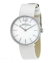 Marc Jacobs White Peggy Watch