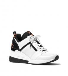 Michael Kors White Black Georgie Sneakers