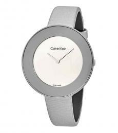 Calvin Klein Grey Round Logo Watch