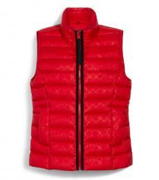 Coach Poppy Signature Embossed Short Down Vest