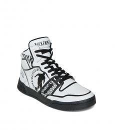 Bikkembergs White Sigger Hi Top Sneakers
