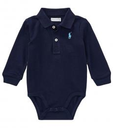 Ralph Lauren Baby Boys French Navy Polo Bodysuit