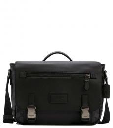 Coach Black Track Large Messenger Bag
