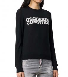 Dsquared2 Black Solid Logo Pullover