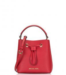 Michael Kors Red Suri Mini Bucket Bag