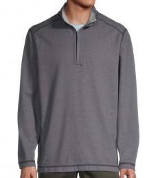 Grey Reversible Quarter-Zip Sweatshirt