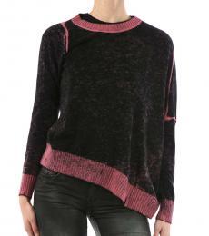 Diesel Black Tie Dye Crew-Neck Sweater