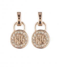 Ralph Lauren Gold Disc Doorknocker Earrings