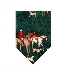 Dolce & Gabbana Green Dapper Horse Print Tie