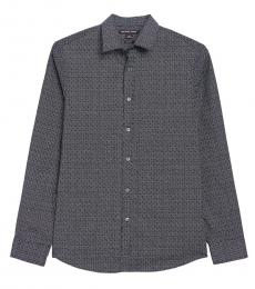 Midnight Dot Print Classic Fit Shirt
