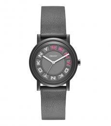 DKNY Grey Soho Logo Watch