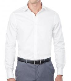 White Regular Fit French Cuff Dress Shirt