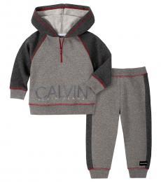 Calvin Klein 2 Piece Hoodie/Pants Set (Baby Boys)