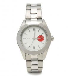 DKNY Silver Jitney Logo Watch