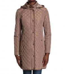 Ralph Lauren Mushroom Quilted Hooded Jacket