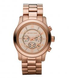Michael Kors Rose Gold Round Dial Watch