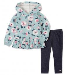 Calvin Klein 2 Piece Hoodie/Leggings Set (Baby Girls)