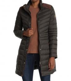 Ralph Lauren Dk Olive Quilted Puffer Jacket