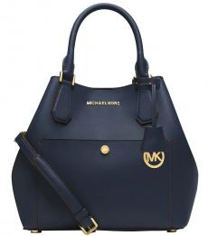 Navy Greenwich Large Tote