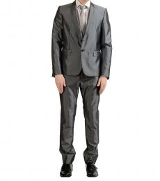 Silver Wool Two Button Suit