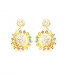 Multi color Plumeria Hawaii Earrings