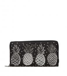 Dolce & Gabbana Black Printed Wallet