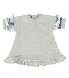 Baby Girls Grey Lace Top