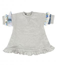 Diesel Baby Girls Grey Lace Top