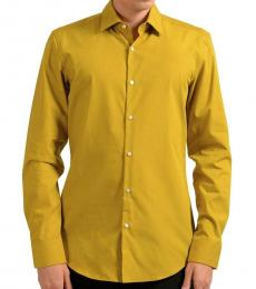 Hugo Boss Mustard Slim Long Sleeve Shirt