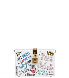 Dolce & Gabbana White Graphic Clutch