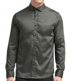 Army Swirl Print Button-Up Shirt