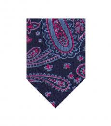 Ted Baker Light Blue Large Paisley Tie