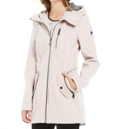 Calvin Klein Soft Lilac Soft-shell Hooded Jacket