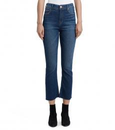 Blue High Waisted Bootcut Jeans