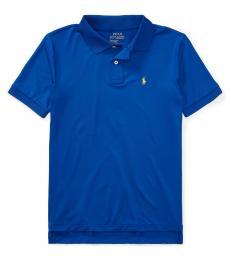 Ralph Lauren Boys Sapphire Performance Jersey Polo