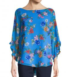 Blue Floral High-Low Top