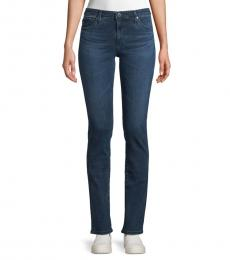 AG Adriano Goldschmied Dark Blue Straight-Fit Jeans