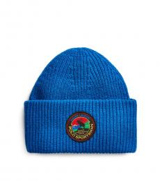 Ralph Lauren Blue Polo Sportsman Beanie