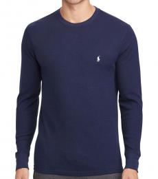 Ralph Lauren Cruise Navy Waffle-Knit Crew Neck Pullover