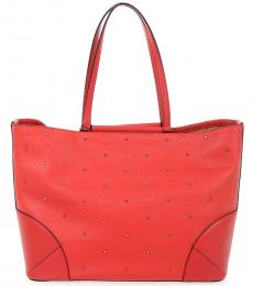 Red Studded Large Tote