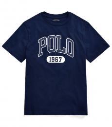 Ralph Lauren Boys Cruise Navy Graphic T-Shirt
