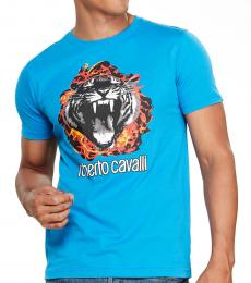 Turquoise Graphic Logo Print T-Shirt