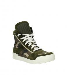 Balmain Camo Print Hi Top Sneakers
