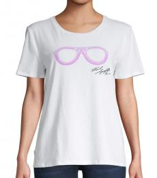 Karl Lagerfeld Soft White Sunglasses Tee