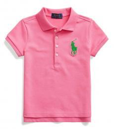 Ralph Lauren Little Girls Baja Pink Big Pony Polo