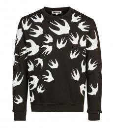 Black Shallow patch sweatshirt