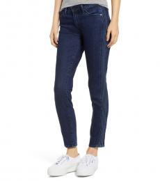 Dark Blue Prima Pintuck Ankle Jeans