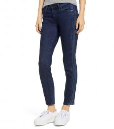 AG Adriano Goldschmied Dark Blue Prima Pintuck Ankle Jeans